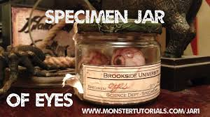 halloween jar labels www monstertutorials com vintage specimen jar of eyeballs