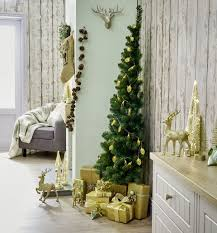 half christmas tree this half christmas tree is for small spaces wilko
