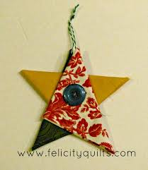 tutorial folded fabric star ornaments felicity quilts