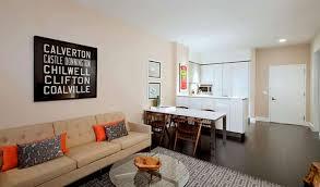 pleasant interior design for 1 bedroom apartment of sofa