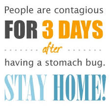 how is a person contagious after the stomach flu
