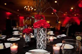 red and white table decorations for a wedding red black and white wedding reception decorations wedding