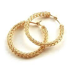 gold circle earrings gold hoop earrings medium hoops yooladesign