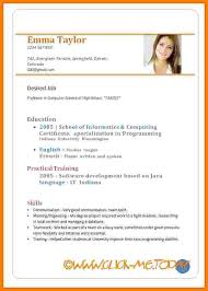 Sample Resume Doc by 7 Curriculum Vitae En Pdf Appeal Leter
