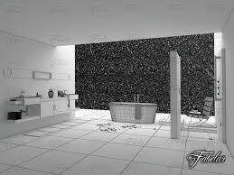 3d bathroom design cgtrader