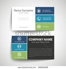 Simple Business Cards Templates Modern Simple Business Card Template Vector Stock Vector 268606268