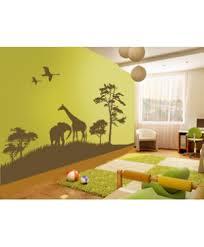 stickers savane chambre bébé fresque savane chambre enfant savane fresque et
