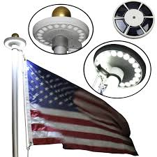 Flag Pole Lights Solar Powered Flagpole Solar Lights