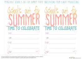 Party Cards Invitations To Print Bnute Productions Free Printable U0027s Out For Summer Party