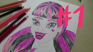 jak narysować draculaurę z monster high część 1 how to draw
