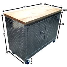 repurposed steel desk rolling workbench great idea reliably