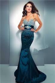 sweetheart long dark navy blue taffeta beaded prom dress with belt