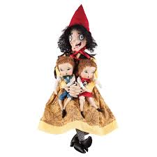 halloween figurines lori mitchell joe spencer sadie old hag witch with hansel u0026 gretel dolls