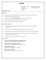 Sample Resume For Sap Mm Consultant Sap Abap Sample Resume Mba Resume 1 Or 2 Pages By Resume Examples