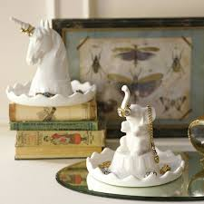 porcelain unicorn ring holder images Charming animal jewelry holders unicorn ring holders jpeg