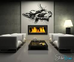 vinyl wall decal sticker 70 s american muscle car os aa124