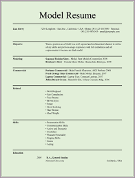Sample Model Resume by What Does A Modeling Resume Look Like Free Resume Example And