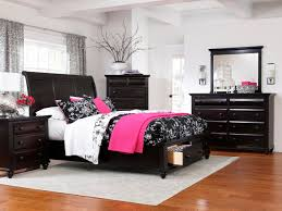 Bedroom Colorful Full Size Bed by Bedrooms Adorable Interior Wall Painting Black And Pink Bedroom