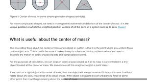 what is center of mass article khan academy