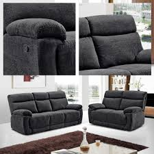 Chenille Reclining Sofa Furniture Interior Chair Design With Maroon Leather