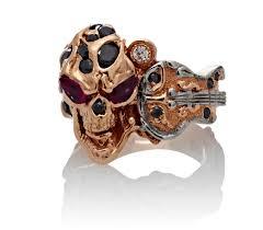 diamond rock rings images The rock star skull ring rose gold diamonds rubies steve soffa jpg