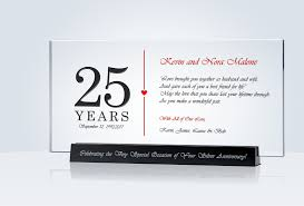 25 anniversary gift 25th anniversary gift central