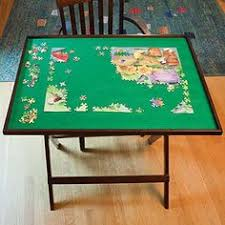 Jigsaw Puzzles Tables Puzzle Table Would Want It Lower With Closed Cabinet For Puzzle
