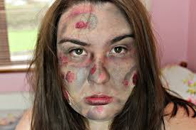 easy burned zombie style halloween makeup tutorial everyday lauren