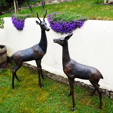 grand deer bronze statues metal garden ornaments s s shop
