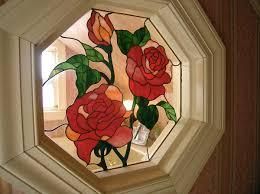 octagon stained glass window portfolio kate grady stained glass