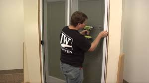 Sliding Screen Door Closer Automatic by How To Install A Sliding Screen Door Youtube