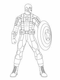 captain america ready fight coloring free printable