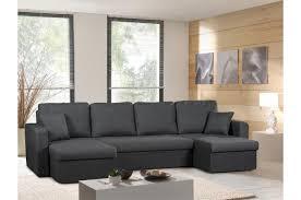 canapé droit 5 places canapé d angle convertible 5 places tissu gris foncé liberty design
