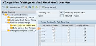 controlling definition how to maintain versions in sap controlling tutorialkart