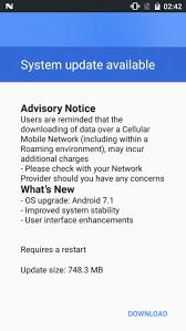 android system update nokia 3 android 7 1 1 nougat ota system update