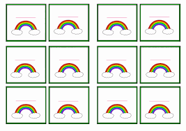 free printable rainbow themed name tags themed name tags free