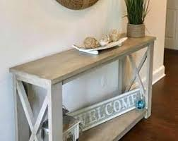 rustic x console table console tables etsy