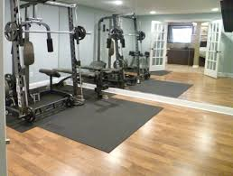 home design unfinished basement home gyms mediterranean medium