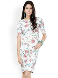 fashion trends high neck sleeveless knee length floral printed