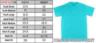 spirit halloween size chart comfort color sizing charts