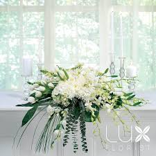 wedding altar flowers white altar arrangement bw17 11 weddings wedding