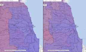Illinois Congressional District Map by Illinois Congressional Districts Comparison 2001 2011