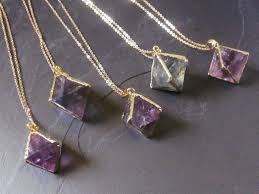 purple crystal stone necklace images Raw stone necklace raw crystal jewelry raw crystal necklace jpg
