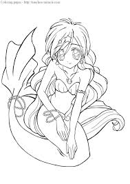 ariel mermaid coloring pages anime mermaid coloring pages