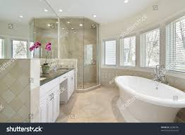 Modern Master Bathroom by Modern Master Bath Large Tub Stock Photo 29280796 Shutterstock