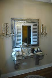 hallway mirrors with shelf amys office