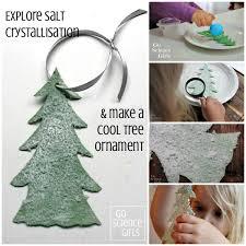 make a snowy salt tree ornament go science