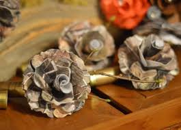 camo flowers boutonniere real tree camouflage gun shell boutonniere