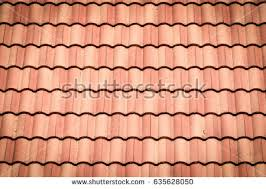 Cement Roof Tiles Traditional Cement Roof Tiles Stock Photo 635628050