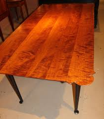 Maple Dining Room Set by Jason Samuel Bench Made Tiger Maple Porringer Top Dining Table